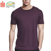 eco friendly | mens bamboo jersey tshirt | eggplant