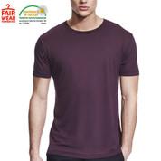 eco friendly | mens bamboo jersey tshirt | eggplant