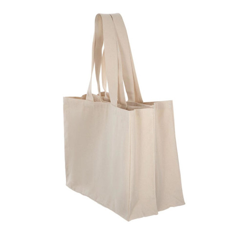 Organic large canvas tote shopping bag
