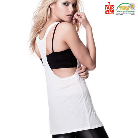CHARITY | organic fair trade  low cut ladies racer back singlet