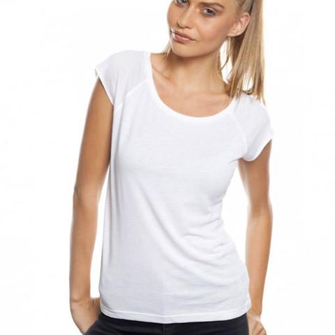 ZHU | womens bamboo raglan tshirt | white