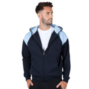 Wholesale hoodie zip up jacket two-tone