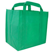 green | plain non woven shopping bag