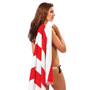 NAUTIC | striped terry beach towel