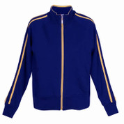 collared sweater jacket | ladies/junior | royal/gold