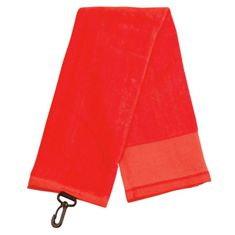 PAR | plain golf towel with hook | red