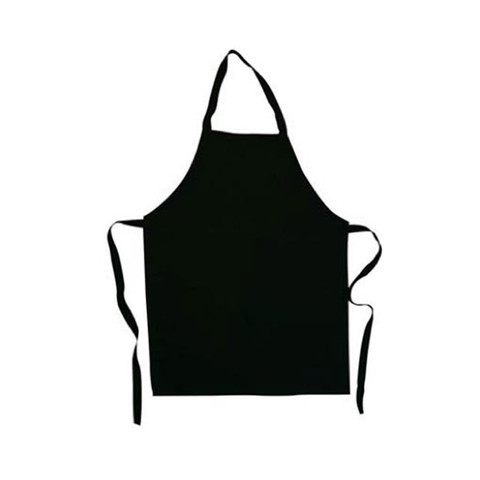 BAKER | plain children's full apron | black