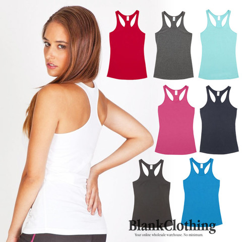 plain racerback singlet ladies | 100% cotton