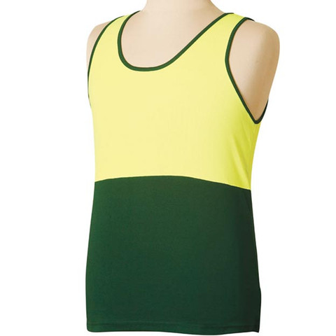 SCOTTY | safety truedry® mesh knit singlet | yellow + bottle