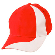 VORTEX | baseball cap | heavy brushed cotton | red/white