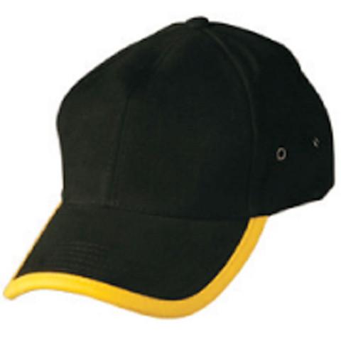 OZONE | contrast baseball cap | black/gold