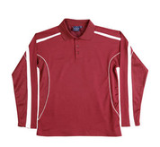 quick dry contrast polo | maroon/white