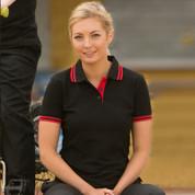 ECLIPSE | sports contrast trim polo | ladies