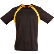 COURAGE | mens cooldry tshirt | black/gold