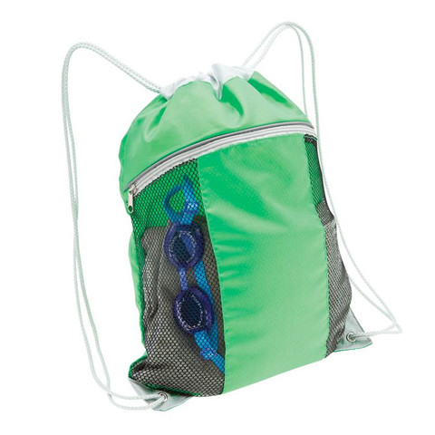 OASIS | backpack with mesh pockets | Lime
