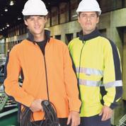 LANDER   safety hi vis polar fleece workwear jacket