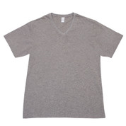 Plain Men tshirts v-neck raw-weave slim fit | Charcoal