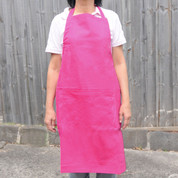 FRESH Plain Cotton Full Bib Apron Pink Watermelon