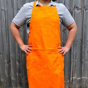 FRESH Plain Cotton Full Bib Apron Tangerine