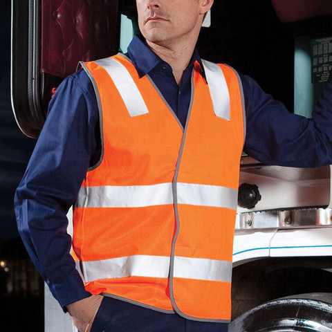 RUSTY | fluoro work vests | reflective panels