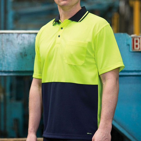 KNOX | safety polo shirt | lime+navy