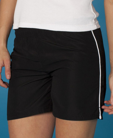 PANTHER | ladies sports shorts | black+white