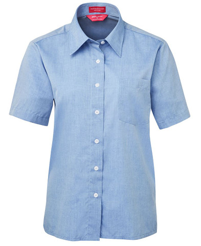 womens fine chambray shirt | short sleeve