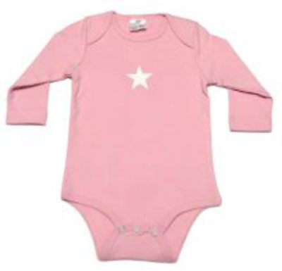 CHERUB | baby long sleeve onesie | 100% cotton | pink star