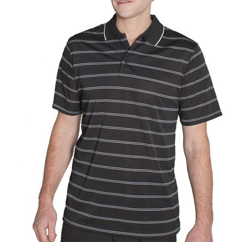 VARDON | mens stripe polo | pique knit