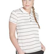 VARDON | ladies stripe polo | pique knit