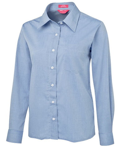 GALE | ladies fine chambray shirt | long sleeve