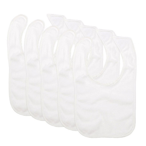... Wholesale Dribble Bibs  differently 41183 0d992 OTIS velcro baby bibs 5  pack large white bibs ... ce89bd91f