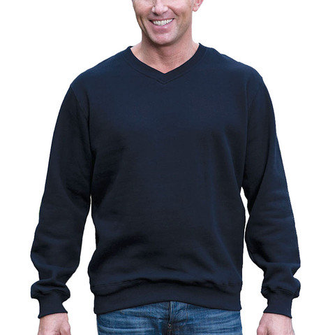 MULLICAN | v-neck fleecy jumper