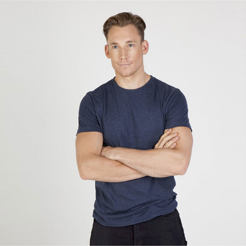 Buy online plain Mens Vintage Marl Tshirts