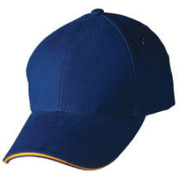 SPEED | sandwich two-tone baseball cap | royal+gold