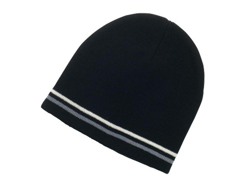 WOMBAT | twin striped beanie | plain knit