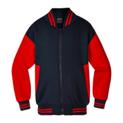 Adult Varsity Baseball College Jacket | Navy/ Red