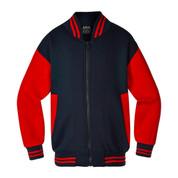 Adult Varsity Baseball College Jacket   Navy/ Red