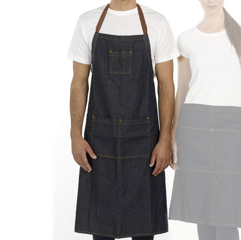 STITCH | denim full apron with pocket online