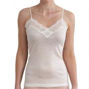 camisole lightweight merino wool thermal underwear online- ivory