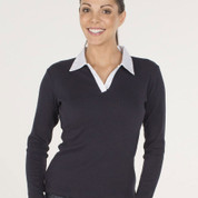 Plain Ladies Rugby Polo Shirt