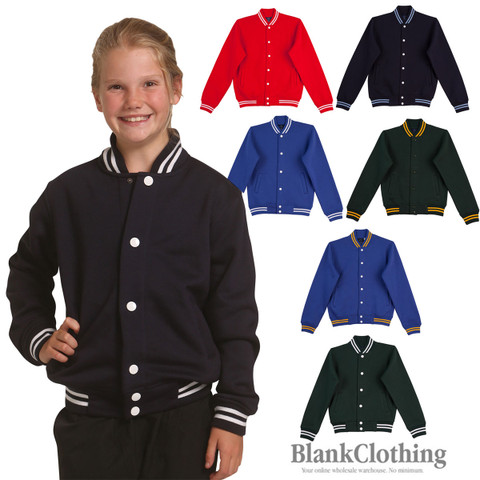JOCK | plain baseball varsity jacket | kids