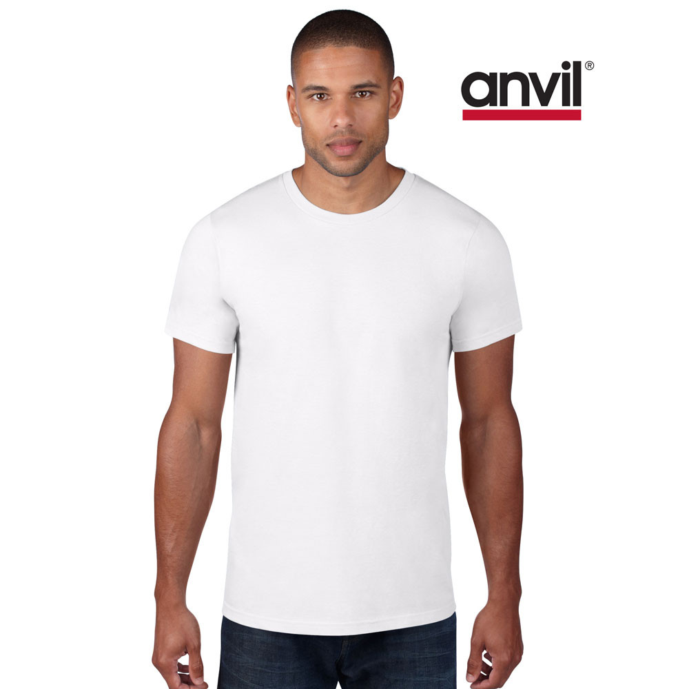 T shirt white blank - Anvil Men S Lightweight Plain T Shirt Adults Cotton Casual Blank Tee S 2xl