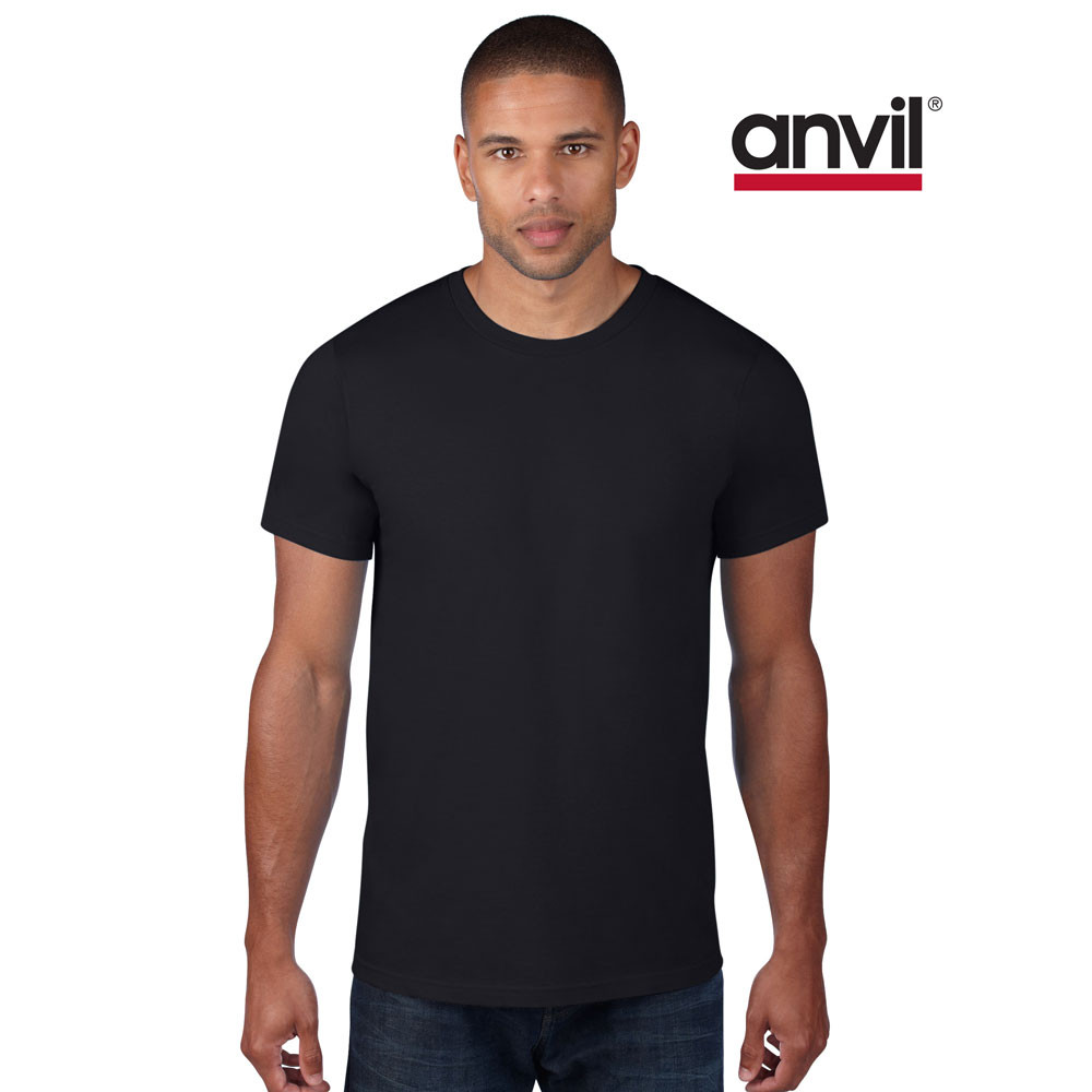 Anvil men 39 s lightweight plain t shirt adults cotton for Where are anvil shirts made