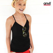 Anvil ladies lightweight spaghetti strap singlet