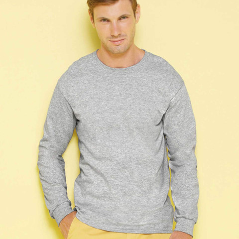 Gildan ultra cotton long sleeve plain tshirt