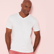 bulk mens plain cotton v neck tee