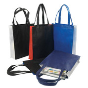 non-woven 2 colour panel totes