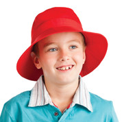 childrens plain twill bucket hat & toggle
