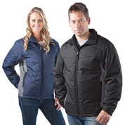 unisex insulated padded outer shell jacket